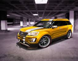 Ford Explorer Rims - get your yellow on with this explorer with car rims