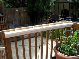 traditional outdoor decoration with collection deck rail planters