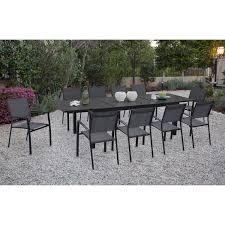 naples 11 piece dining set naplesdn11pc gry home outdoor living outdoor dining sets naples 11 piece dining set naplesdn11pc gry