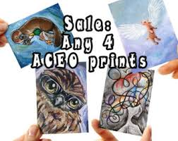 aceo cards for sale aceo cards etsy