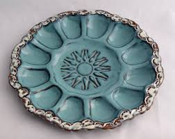 small deviled egg plate deviled egg plate in with blue accent ceramic