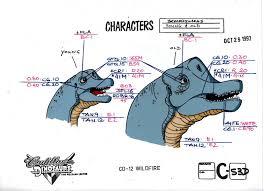 palaeoblog cadillacs u0026 dinosaurs model sheets