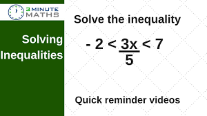 solving inequalities with fractions gcse maths level 7 youtube