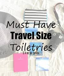 travel toiletries images Must have travel size items 3 4 oz toiletries perfect for travel png