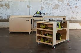 rolling work table plans ana white ultimate roll away workbench system for ryobi blogger