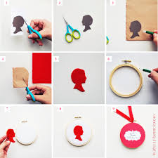 diy silhouette ornament project nursery