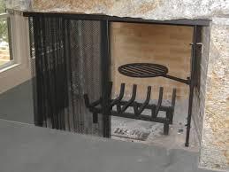 mesh curtain fireplace screen