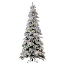 5 pre lit led artificial tree flocked kodiak spruce