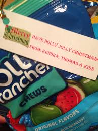 i love the little note and how it incorporates the jolly ranchers