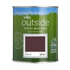 wilko exterior gloss paint deep red 750ml at wilko com