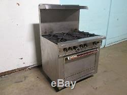garland commercial h d gas 6 burners stove withoven