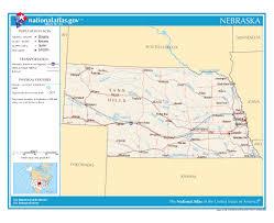 Nebraska State Map Maps Of Nebraska State Collection Of Detailed Maps Of Nebraska