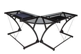 Z Line Belaire Glass L Shaped Computer Desk Desks Walker Edison D51x29cb Walker Edison 3 Piece Desk Z Line