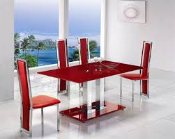 Red Kitchen Table Chairs Vintage Red And White Porcelain Table - Red kitchen table and chairs