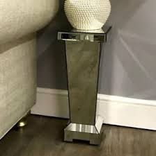 Mirror Pedestal Stand Glass Telephone Table Ebay
