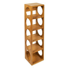 woodluv bamboo stackable wine rack stand holder by