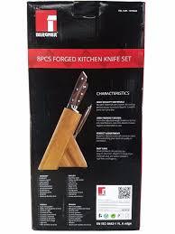 bergener bayern forged german steel kitchen knife set with wood bergener bayern forged german steel kitchen knife set with wood block 8 piece