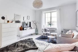 the delightful design of the studio flat scandinavian style bedroom