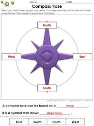 compass rose cut and paste activity cardinal directions map skills