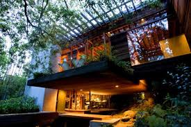 multi level homes wooded open plan multi level glass cliff home