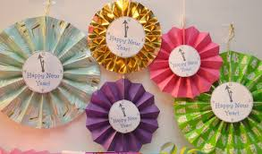 new year u0027s paper fan clock decorations u0026 a nye party building