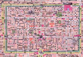 map of xi an xian central city map 1b city centre high detail by
