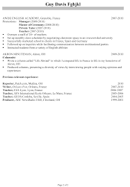 Resume Samples For Teaching Job by Resume For A Program Director Susan Ireland Resumes