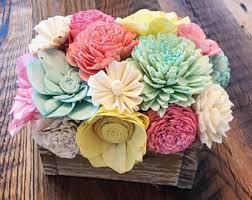 wood flowers sola wood flowers etsy