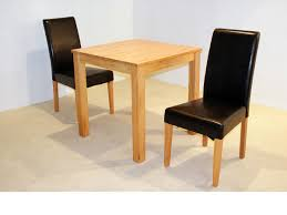 Dining Table And 2 Chairs Chair Rectangle Soft Brown Oak Dining Table With Grey Folding