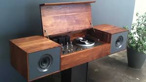 Record Player Cabinet Plans by Hands On With The Symbol Audio Modern Record Console Youtube