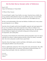 nanny cover letter template helping parents write letters of reference for their nannies