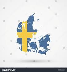 map denmark sweden flag colors stock illustration 460506448