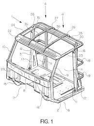 patent us6315351 cabin structure for medium truck and truck