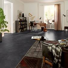 Black Laminate Flooring Tile Effect Hydro Guard Water Resistant Laminate Tile Effect