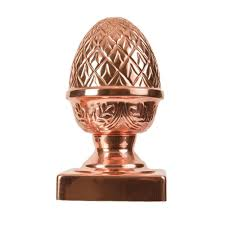 protectyte 6 in x 6 in copper pineapple slip fence post cap