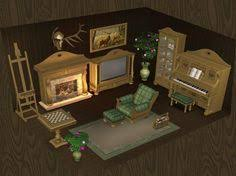 wood for sims 2 bavaria living room set in medium wood can be
