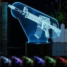 led bureau 3d changeant de couleur illusion illuminé arme led bureau lumière de