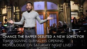 chance the rapper sings a thanksgiving song for his snl
