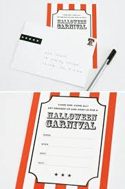 free printable halloween carnival invite and envelope wrap one
