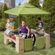amazon com step2 all around playtime patio with canopy playhouse