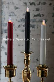 8 inch ivory moving battery operated taper candle timer