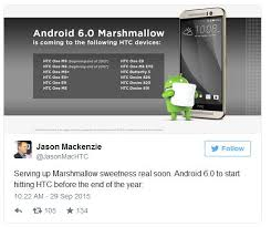 is htc android android 6 0 marshmallow update release date rolling out to htc one