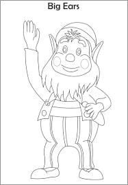 big ears printable coloring page for kids