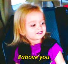 Chloe Little Girl Meme - side eye gif images
