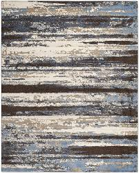Brown And Blue Area Rug by Amazon Com Safavieh Retro Collection Ret2138 1165 Modern Abstract