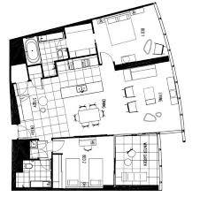 three bedroom apartments floor plans q1 resort s two bedroom spa apartment gold coast