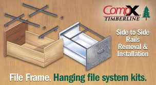 Hang Rails For Lateral Filing Cabinets by Compx Timberline File Frame Side To Side Rails Removal