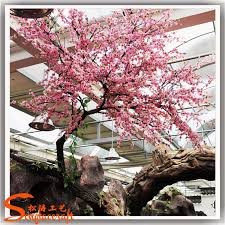 2017 new product artificial cherry blossom trees pink artificial