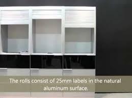 roll up kitchen cabinet doors aluminum roll up doors youtube