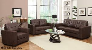 Brown Leather Loveseat Enright Brown Leather Sofa And Loveseat Set Steal A Sofa